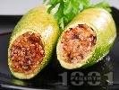 Рецепта Пълнени тиквички с ориз и кайма, печени на фурна